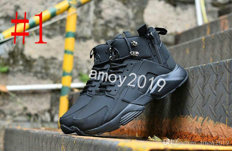 2018 New Air Huarache 6 X acronimo City MID High Top in pelle Huaraches Mens scarpe da ginnastica Running Shoes Uomo Huraches Sneakers Hurache Taglia 40-45