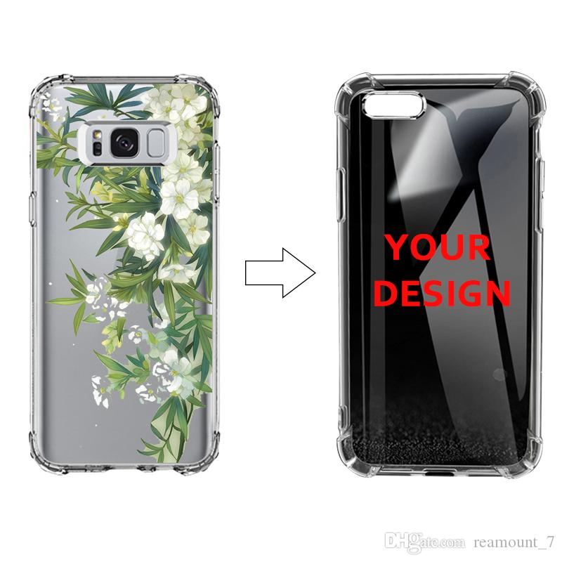 best loved c9f27 b29f3 200 pcs/Lot DIY Personalised Printing Case for Samsung Note 9 Shockproof  Bumper Coque for Samsung s9 s9 Plus Soft Clear