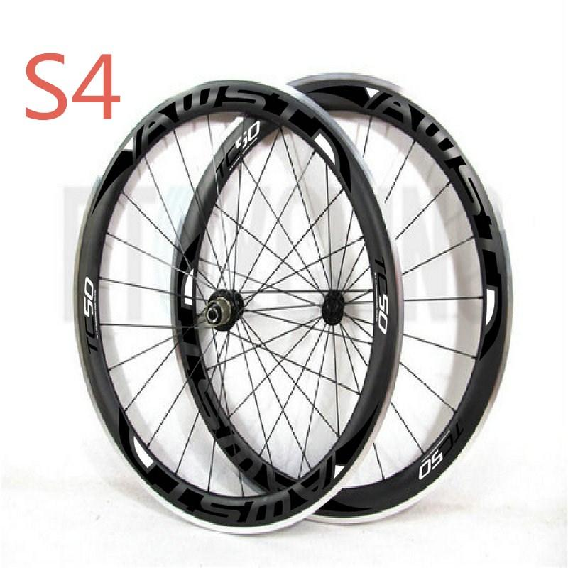 2018 top quality 50mm bicycle carbon wheels clincher 11s glossy finished alloy surface road bike wheels 700c with powerway hubs