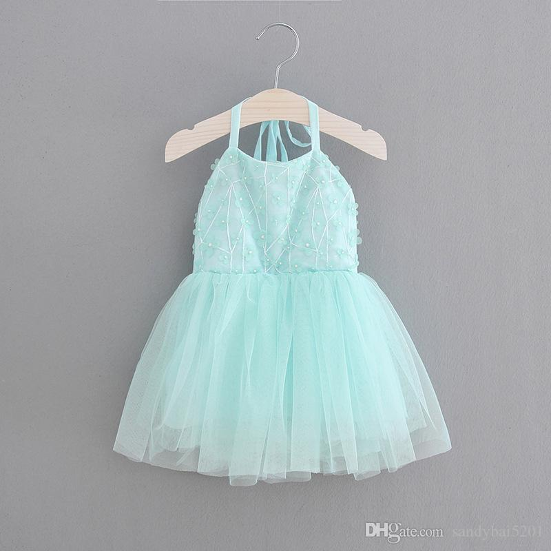 Party Dress for 2-6T Kids Girls Backless Suspender Lace Dresses 2018 New Infant Princess Girl 3D Flower Vestidos Dress Children Clothing