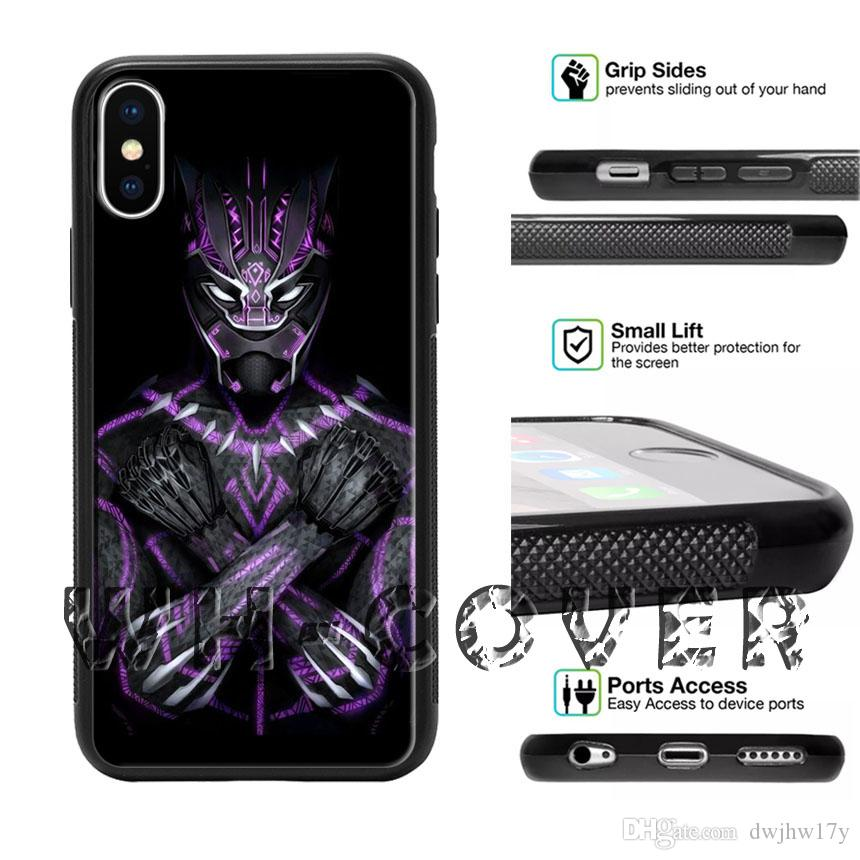 best service 45954 b75b2 Black Panther Wakanda Forever Gesture Arms Crosse Phone Case For iPhone iX  i8 i8Plus i7 i7 i6 i6s SE T6 Cover