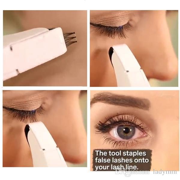 Flashes LASH APPLICATOR Eyelash Stapler Flashes Lash Applicator Mini False  Eyelashes Natural Curl Eye Lash Extensions Tool With 45 Clusters Best Makeup  Brushes Fake Eyelashes From Ladymm, $12.52| DHgate.Com