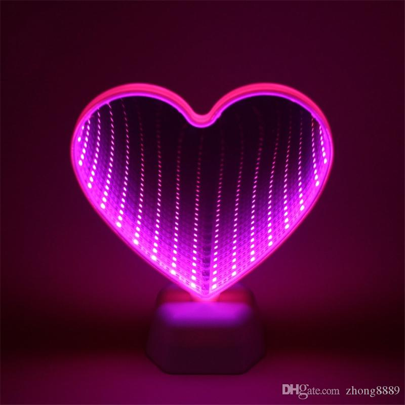 3D Heart LED Fairy Tunnel Lamps 3D Marquee Night Lights Novelty Cloud Star Bell Lamps For Desk Wall Table Bedside Decoration