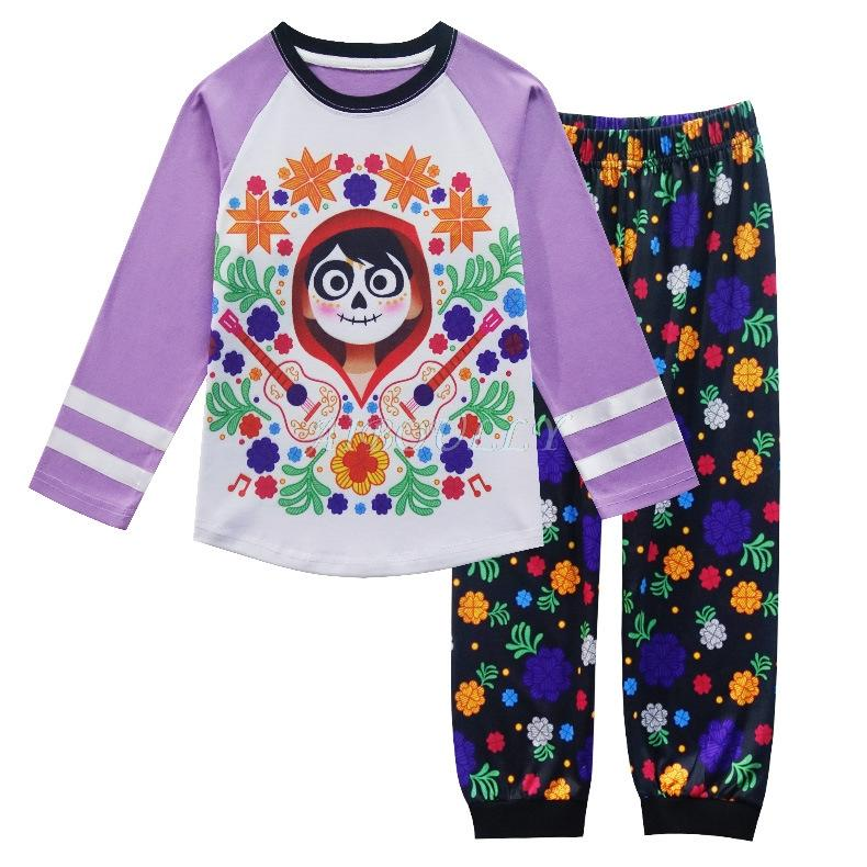 a92a30630 Movie Coco Miguel Pajamas Cosplay Costume Boys Girls Cotton ...