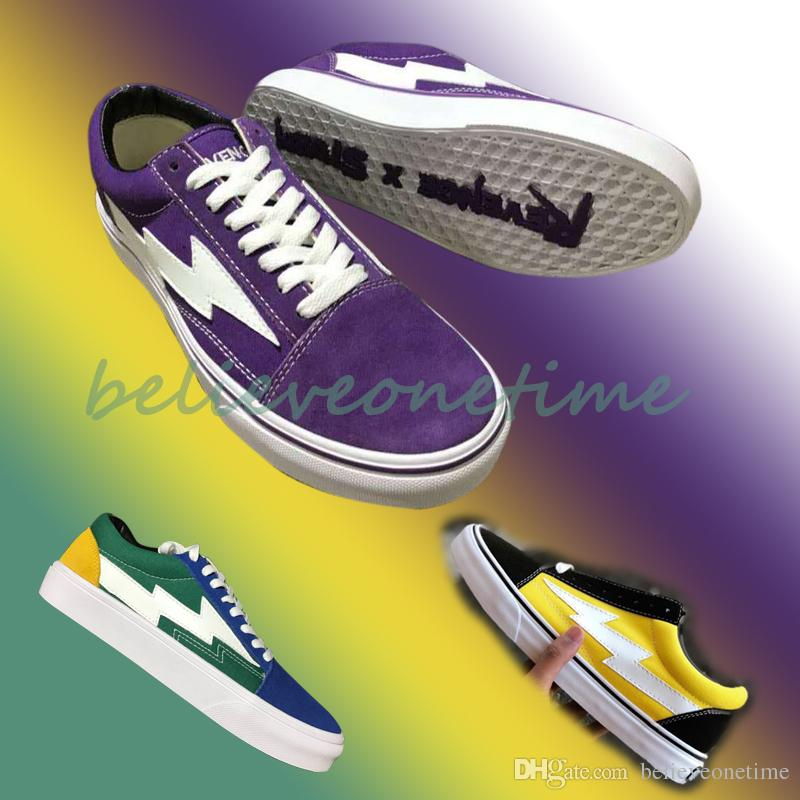 1eafd20ba71b 2019 2018 New Revenge X Storm Low Cut Australian Exclusive Purple White  Blue Green Yellow IAN Connor Black Fire Flame Teal Flame Canvas Shoes From  ...