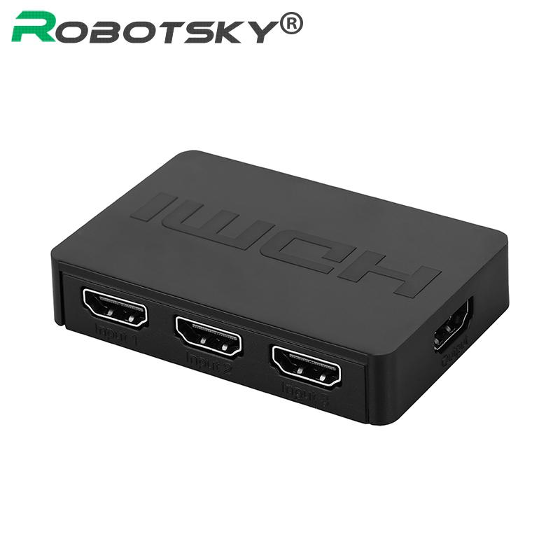 HD 3D 1080P 3x1 Audio Video HDMI Switch Splitter 3 In 1 out 3 Port Hub Box  Auto HDMI Switcher for XBOX360 DVD PS3 Projector