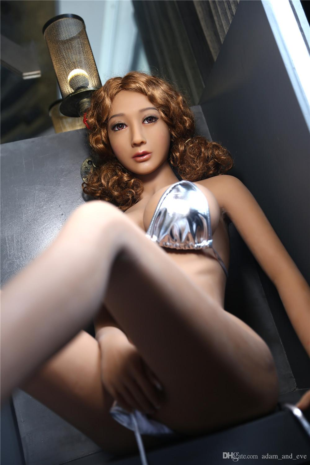 3D Solid TPE Full Body Silicone Real Sex Doll Vagina Anal Oral Male Masturbation Metal Skeleton Love Doll Sex Products