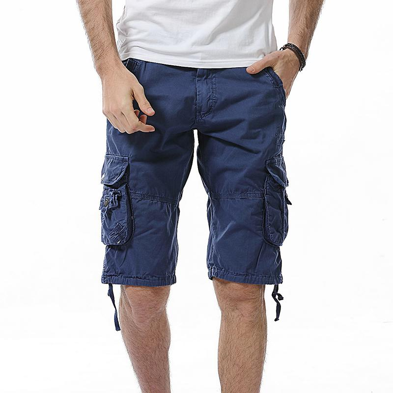 651239c728 Mens Military Cargo Shorts 2018 Brand New Army Camouflage Work Shorts Men  Cotton Loose Work Casual Short Pants Plus Size 29-40Y1882203
