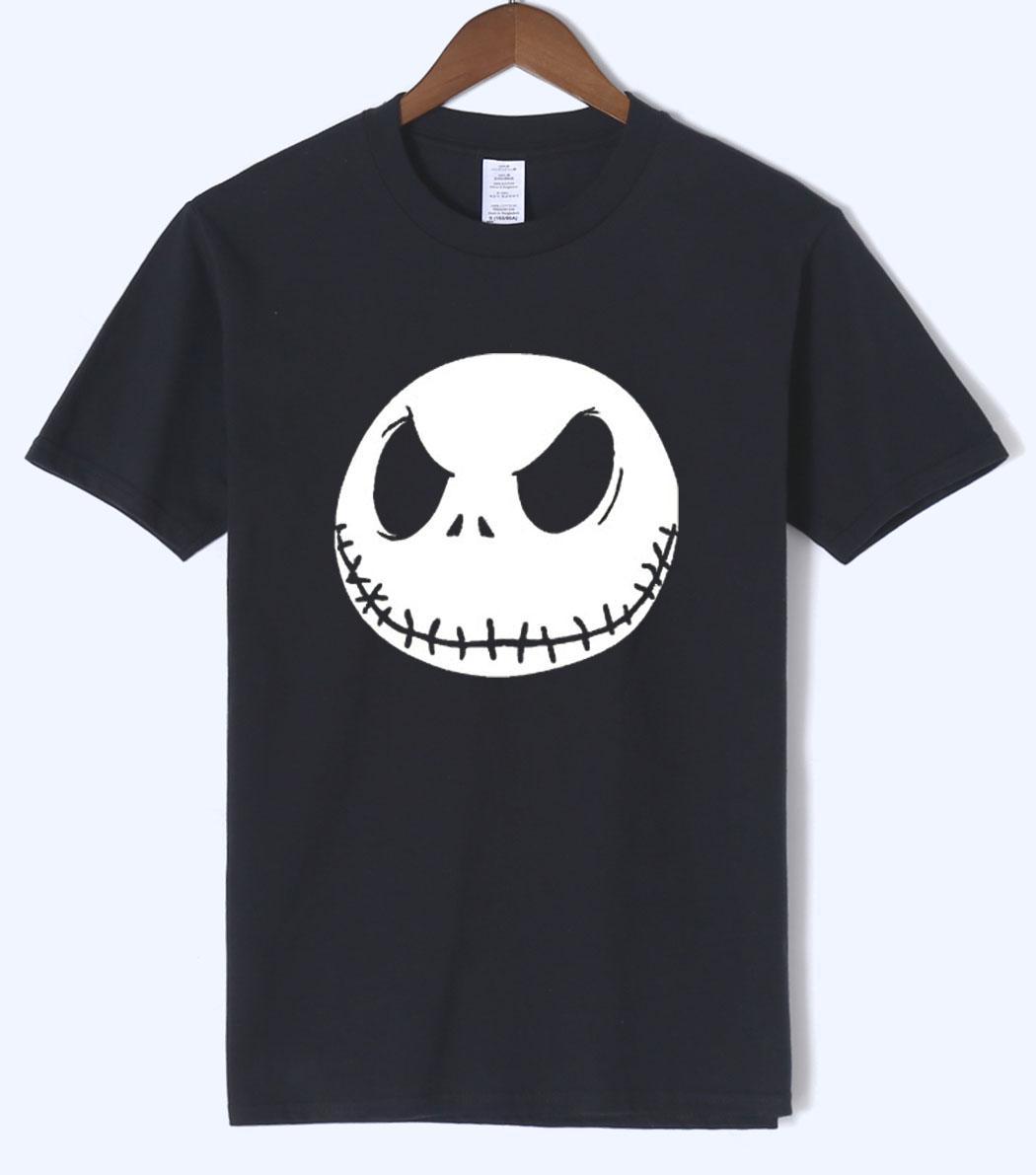 Compre Venta Caliente 2018 Navidad Jack Skellington Hombres Camiseta Casual  Hombre Camisetas De Halloween Camiseta Divertida 100% Algodón De Manga  Corta ... fdae3b89c23ea