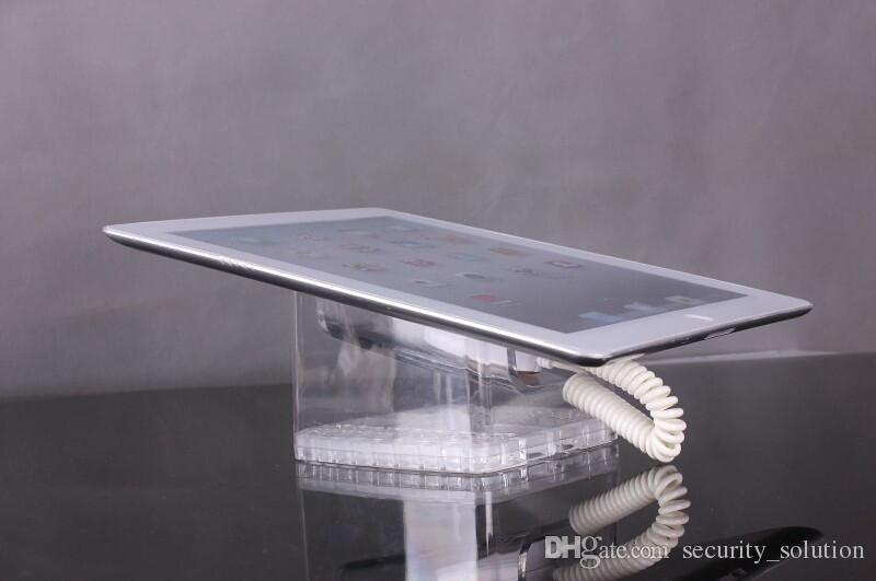 10 pçs / lote Acrílico Tablet PC Anti-roubo Security Display Stand Holder Rack Shelf