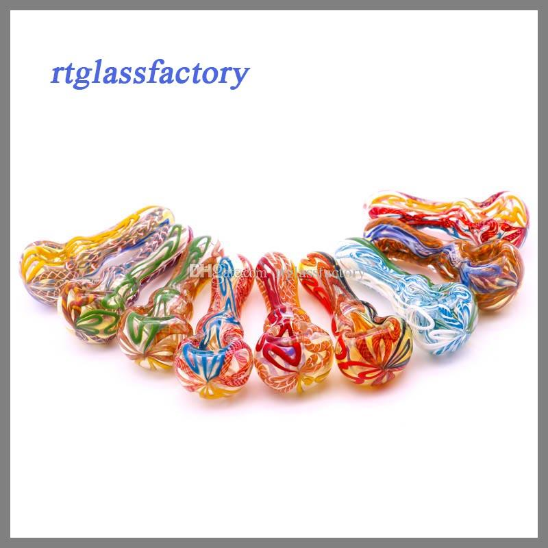 """glass smoking pipe teady glass hot sale design Manufacture hand pipes,spoon pipe 4"""" 80g best quality"""