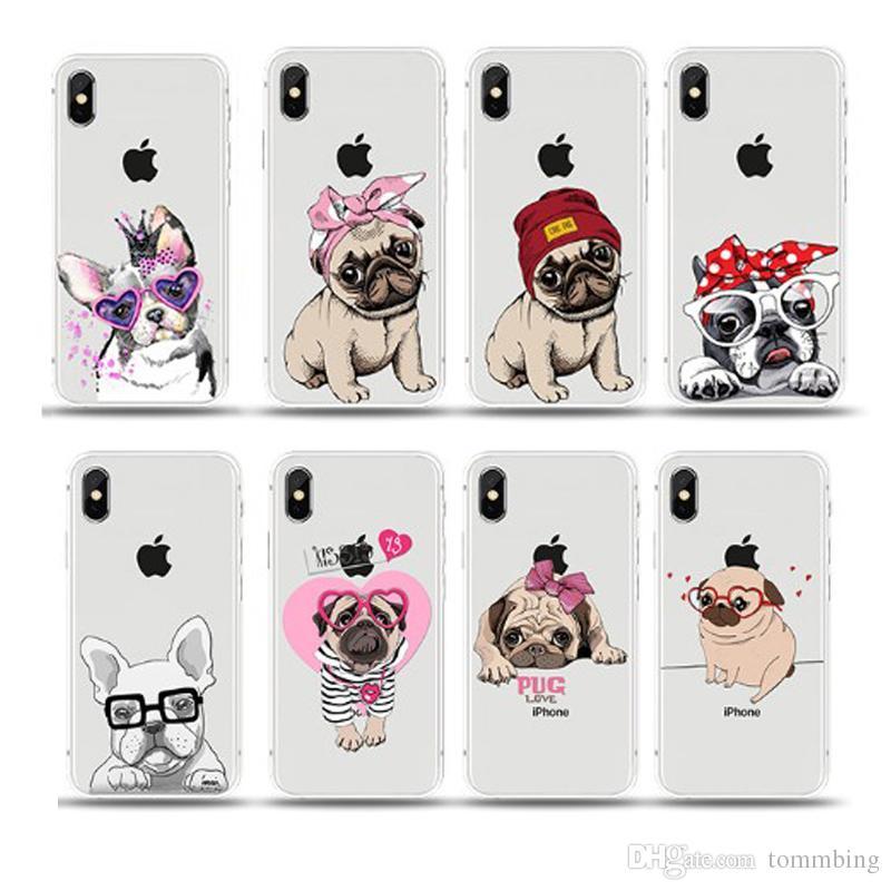 coque iphone 7 plus pug