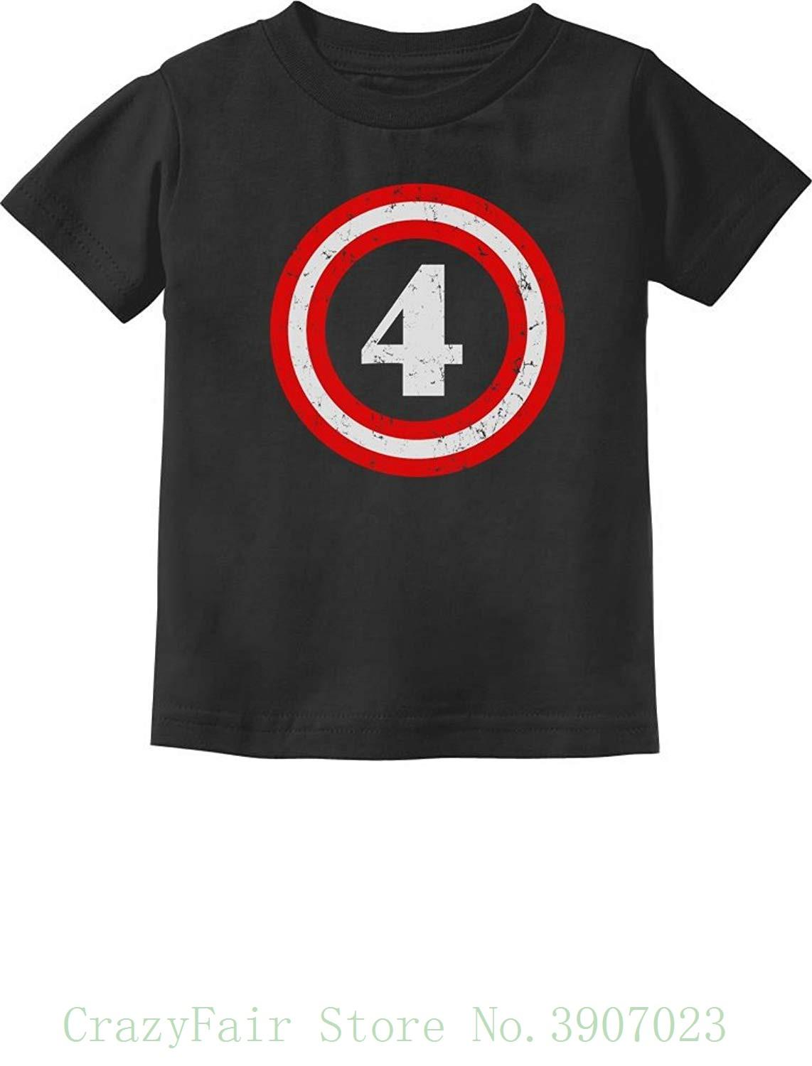 Captain 4th Birthday Gift For Four Years Old Toddler Infant Kids T Shirt New Fashion Men Short Sleeve Shirts Deals Super Cool From