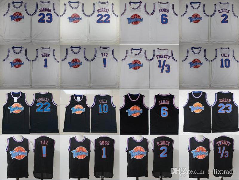 3e2a23c1aa50 2019 Space Jam Jersey Looney Tunes 1 Bugs Bunny 10 Lola Bunny 2 Daffy Duck  Taz ! Tweety Bird Bill Murray James Tunesquad Vintage 90s Stiched From  Felixtrade ...