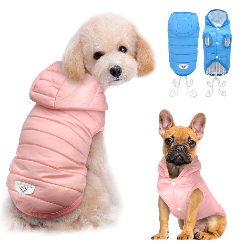 4d75b67acb5 Compre Ropa Para Perros De Invierno Para Chihuahua Bulldog Francés Pug Ropa  Para Mascotas Ropa Para Perros Pequeños Impermeable Chaqueta Abrigo Traje  Roupa ...