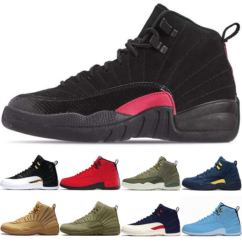 quality design e2642 ccd43 Nike Air Jordan Retro Zapatos De Baloncesto 12 12s Hombres CP3 Bulls Red  University Blue Rush Pink Vachetta College Navy Michigan Bordeaux Zapatillas  ...