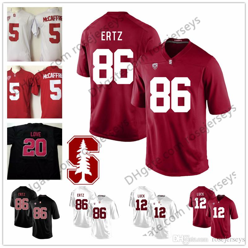 2019 Stanford Cardinal College Football  86 Zach Ertz 12 Andrew Luck 20  Love 5 McCaffrey Black Red White Stitched Kids Youth Mens Jersey S 3XL From  ... 6e891ddce