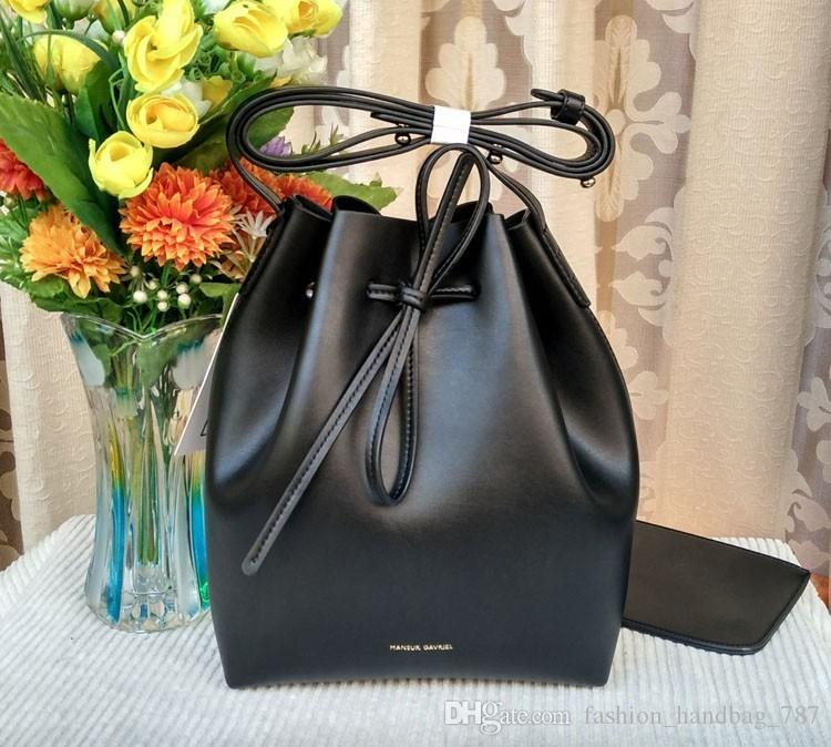 04e1bb5cf8e2 New top luxury handbags MANSURSTUDIOS bucket bag mansur women faux suede  shoulder bag gavriel lady cross bag free shipping