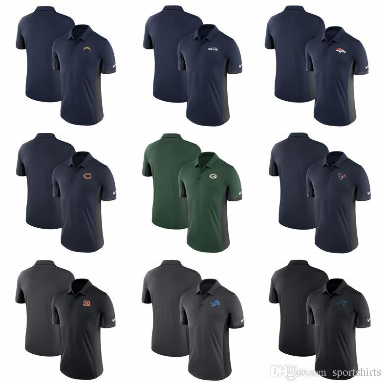 328966456 Compre Hombre Houston Texans Camiseta Green Bay Packers Detroit Lions  Denver Broncos Cincinnati Bengals Chicago Bears Panthers Azul Marino  Evergreen Polo A ...