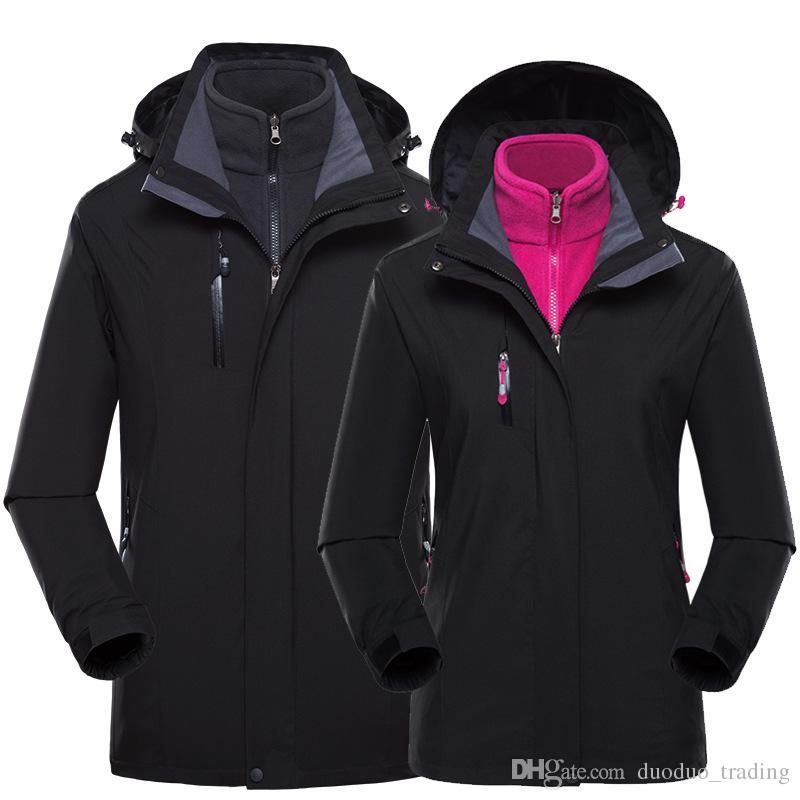 923768b69b 2019 Hiking Jacket Warm Men Women Winter Inner Fleece Waterproof Outdoor  Sport Coat Camping Trekking Skiing Jackets Clothing Sport Jackets From ...