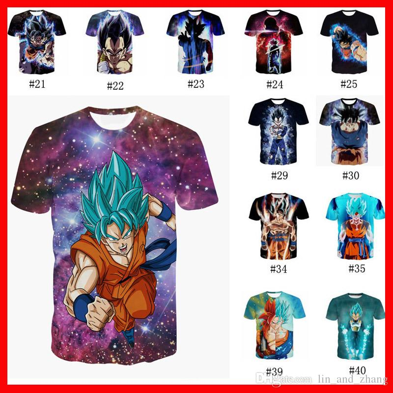 Compre 40style 3D Hombres Camiseta Dragon Ball Verano Mujeres Camisetas  2018 Nueva Super Anime Camiseta Goku Vegeta Super Saiyan Hip Hop Imprimir  Manga ... 041774a9d71e3