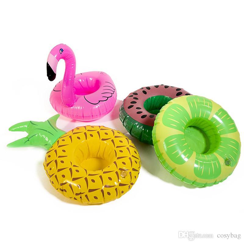Float Flamingo Pineapple Inflatable Drink Cup Holder Bottle Holder Supplies  Party Beverage Boats Phone Stand Holder Pool Toys 0185 Inflatable Drink Cup  ...