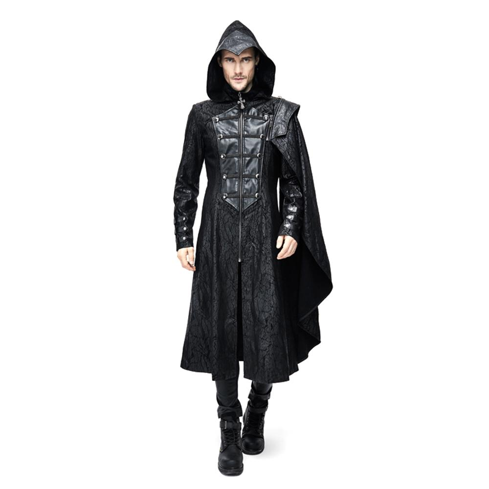 Steampunk Mens trench coat
