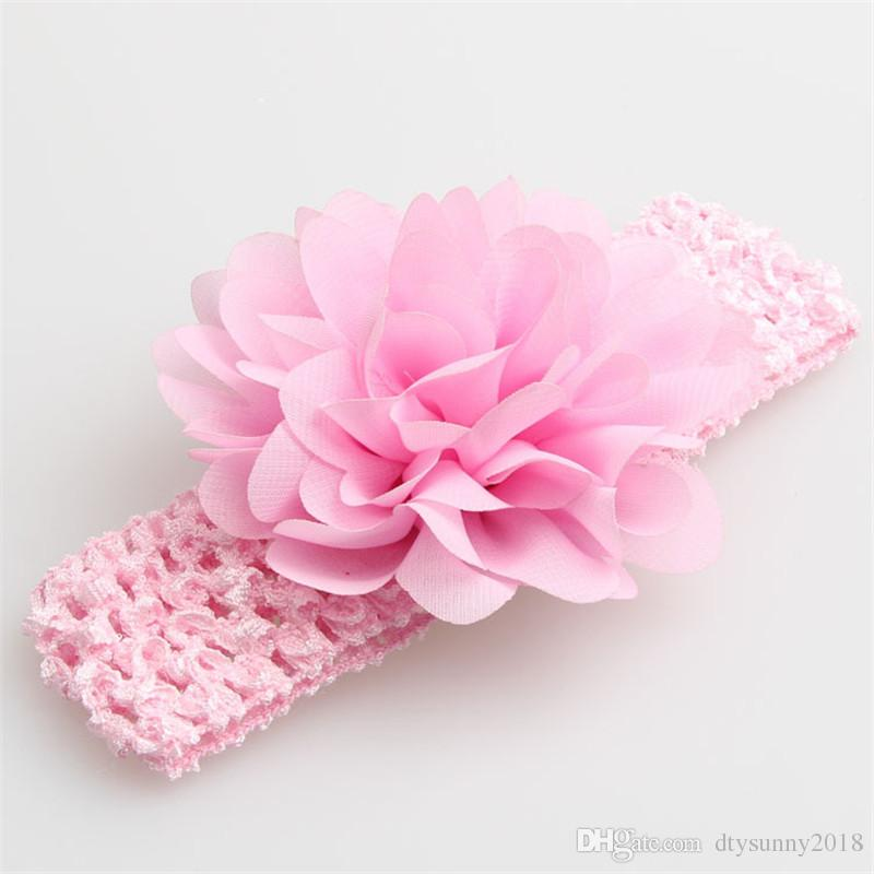 Spring/Summer NEW Baby Girls Lace Headband Infant Hair Weave Band Chiffon Flower Headband kids Hair Accessories photography