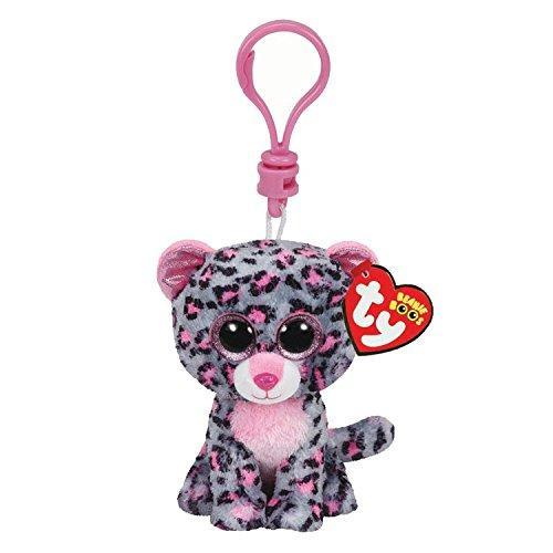 883bb080d0e Ty Beanie Boos 4 9cm Tasha the Leopard Key Ring Clip Plush Soft ...