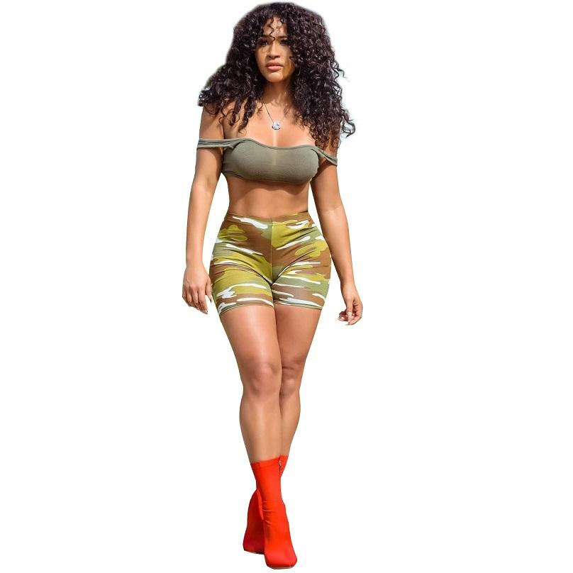 f12179b8b2 2019 Co Ord Set Women Summer Clothes Camouflage Sexy Set Slash Neck  Sleeveless Crop Top Short Pant Plus Size Casual Outfits From Modleline,  $23.64 | DHgate.