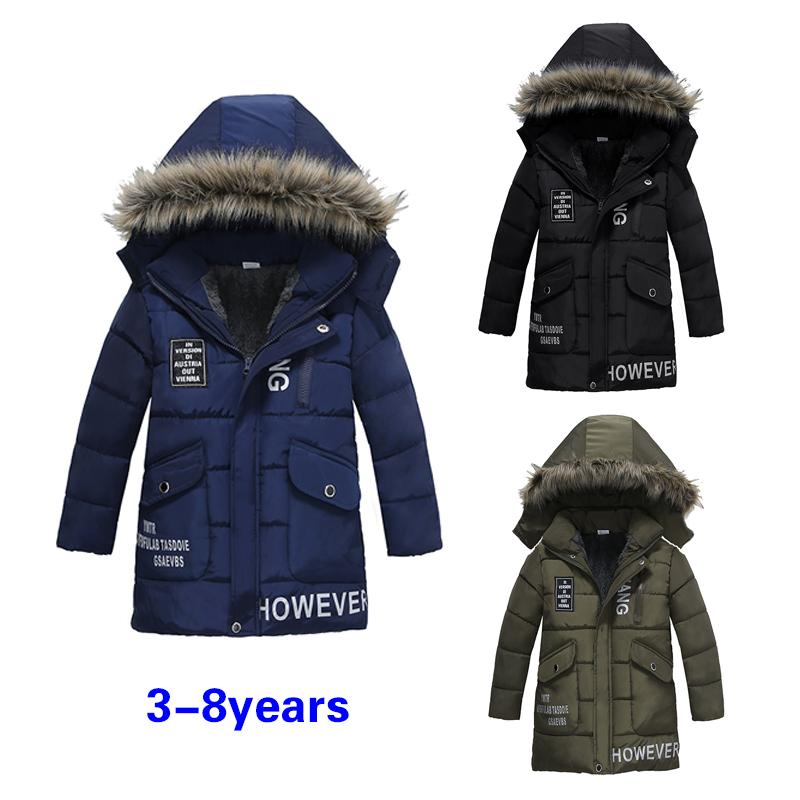 20e250b18 New Boys Jackets Parka Baby Outerwear childen winter jackets for Boys down  Coats warm Kids baby thick cotton down