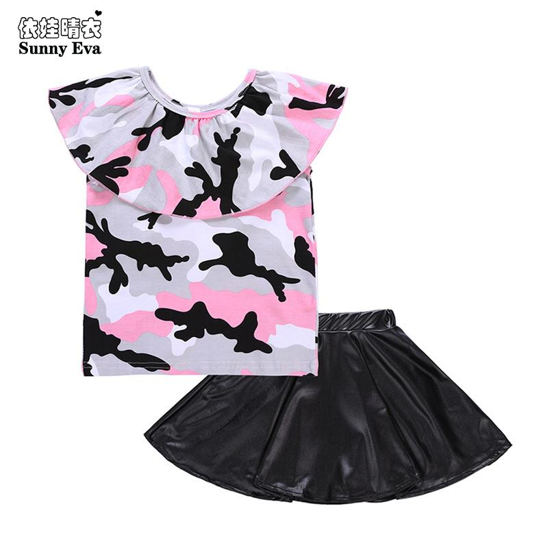 454706d7b sunny eva clothing set of little girl's clothes korean fashion clothing for  kids girls clothes fashion summer