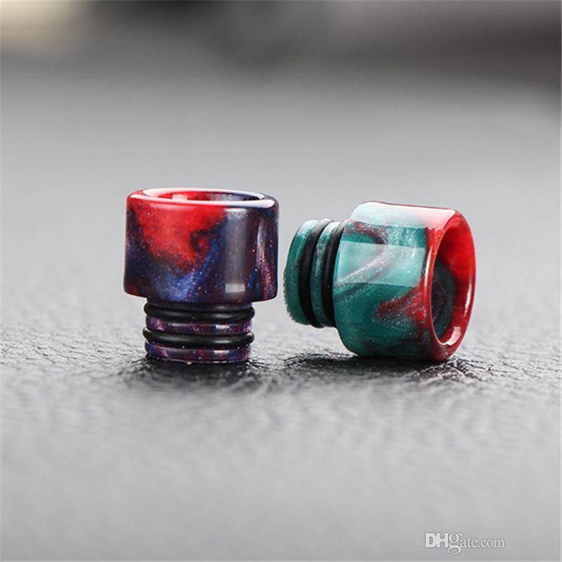 E-cigarettes Ecigs Vaporizer 510 Drip Tip Epoxy Resin Drip Tips for TFV4 Pretty pattern resin drip tips 510 Mouthpiece Ecigarettes