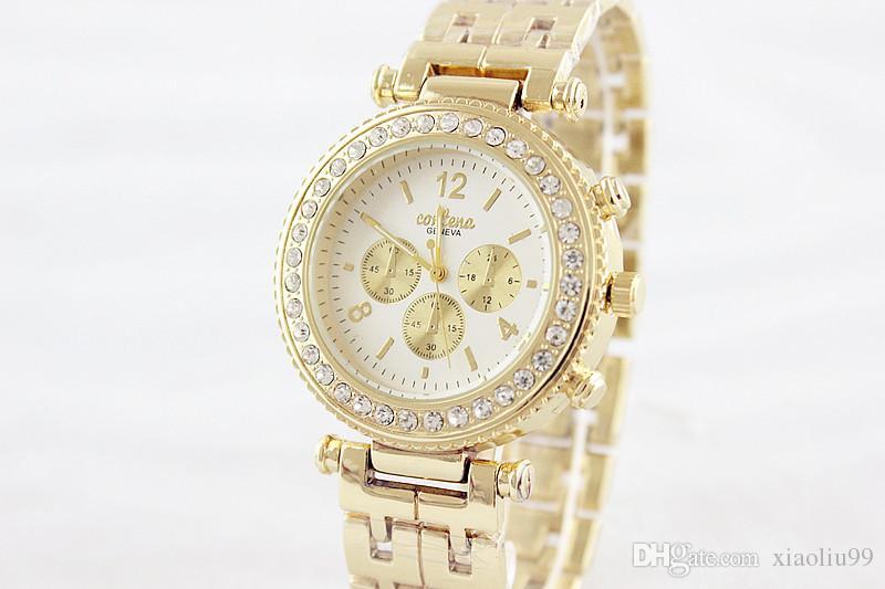 ec1bed69d175 CONTENA Fashion Silver Gold Watch Women Watches Diamond Bracelet Brand  Women s Quartz Watch Ladies Wristwatches Clock Reloj Mujer Girl Gifts Watch  Women ...