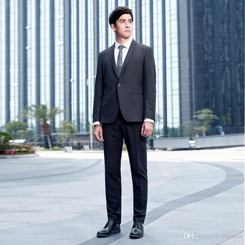 Acheter Custom Made Hommes Costumes Noir Costumes D affaires Formelle De  Mariage Tuxedos 2 Pièces Veste Pantalon Slim Fit Meilleur Homme Blazers  Balle Prom ... c2c7c4fed7e