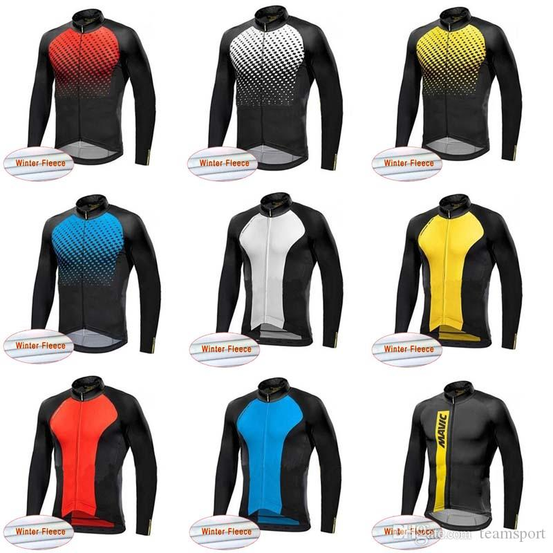 bc1702882 MAVIC Team Cycling Winter Thermal Fleece Jersey Hot Sale New Winter MTB  Wear Bike High Quality Clothes 840812 Mtb Clothing Best T Shirts For Men  From ...