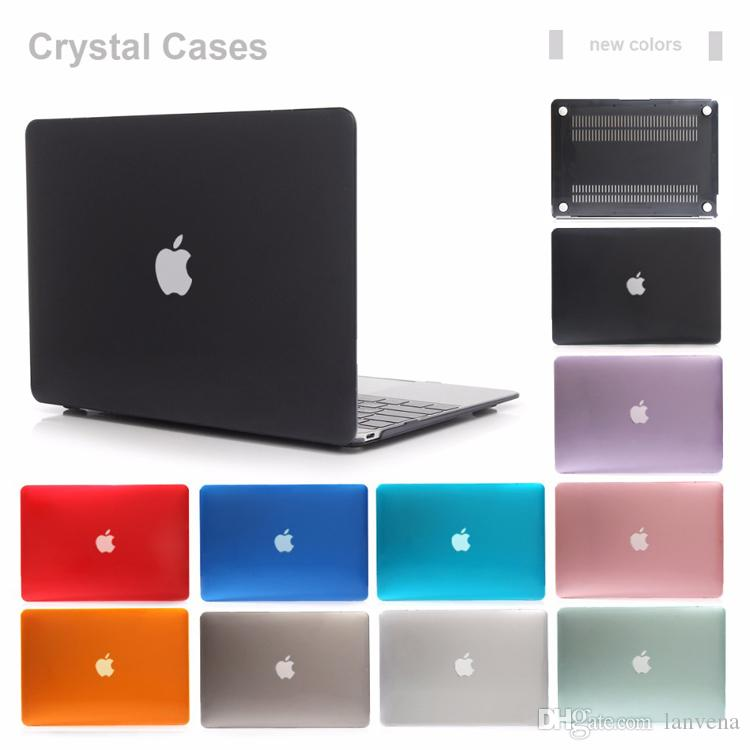 low priced 914a6 6401b Front and Back Plastic Crystal Cover Case for Macbook Air Retina Pro 11 12  13 15 inch