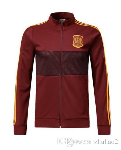 75b9d74bdcb 2019 2018 19 World Cup Spain Soccer Jacket Tracksuit Red Spain ASENSIO  MORATA ESPANA RAMOS ISCO Football Training Suit Set Uniform From Zhuhao2,  ...