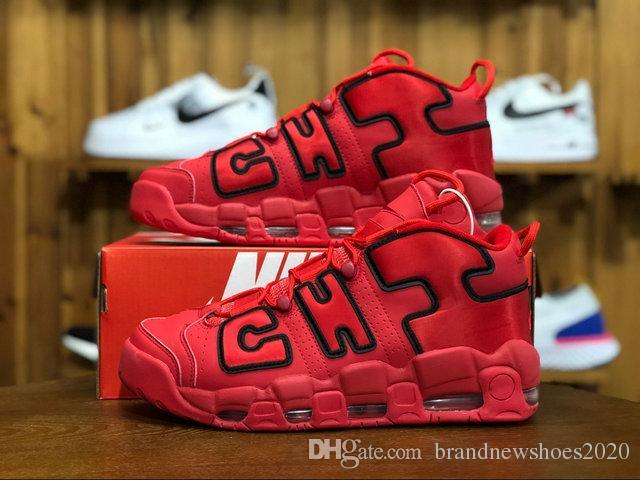 Frankreich UK Pippen Air mehr Uptempo QS United Kingdom Schwarz weiß Rot Männer Frauen Basketball Schuhe Airs 3M Scottie pippen Sportschuhe 36 45