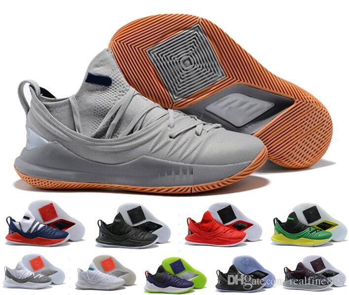 AAA 2018 New Arrival Low Cut Curry 5 Men's Basketball Shoes,Stephen 5 MVP Sports Sneaker,Size 40-46,Free Shipping