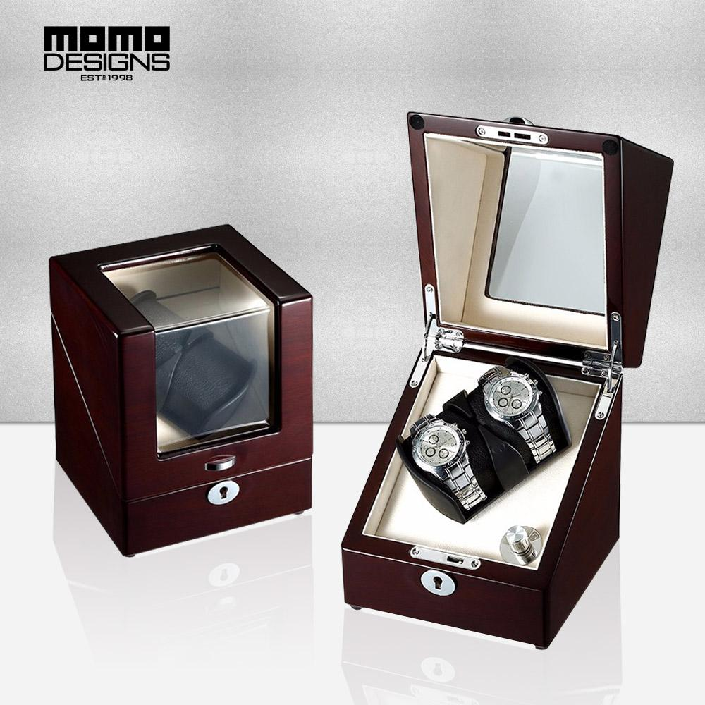 2 Slots Automatic Watch Winder Single Rotor Luxury Wooden Box with ... 16f2540d19