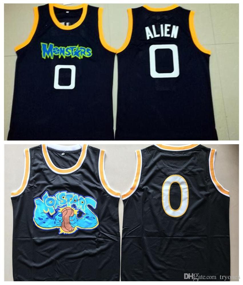 e12a9e5673e 2019 Mens Tune Squad Space Jam Moive Jerseys ALIEN #0 MONSTARS BASKETBALL  JERSEY Cheap Black Stitched Shirts S XXL From Tryones, $17.15 | DHgate.Com