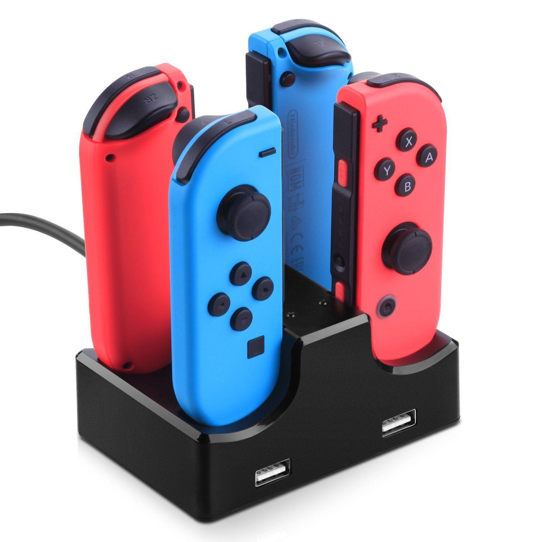 4 In 1 Ladedock Station LED Ladegerät Cradle Für Nintendo Schalter 4 Joy-Con Controller Nintend Schalter NS Ladestand 1 teile / los