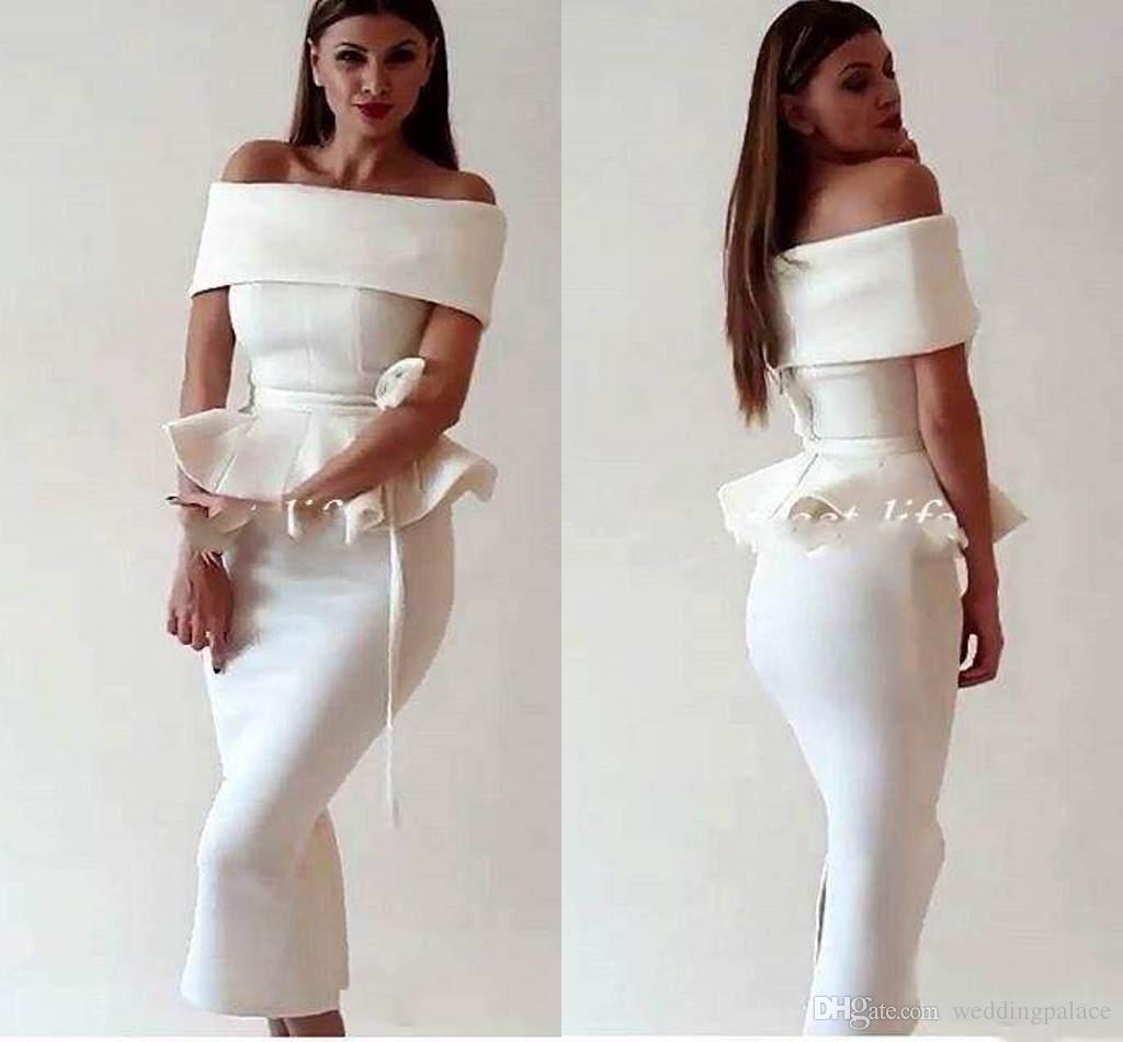 Elegant Arabic Women Off Shoulder 2018 Homecoming Dresses Mermaid ...