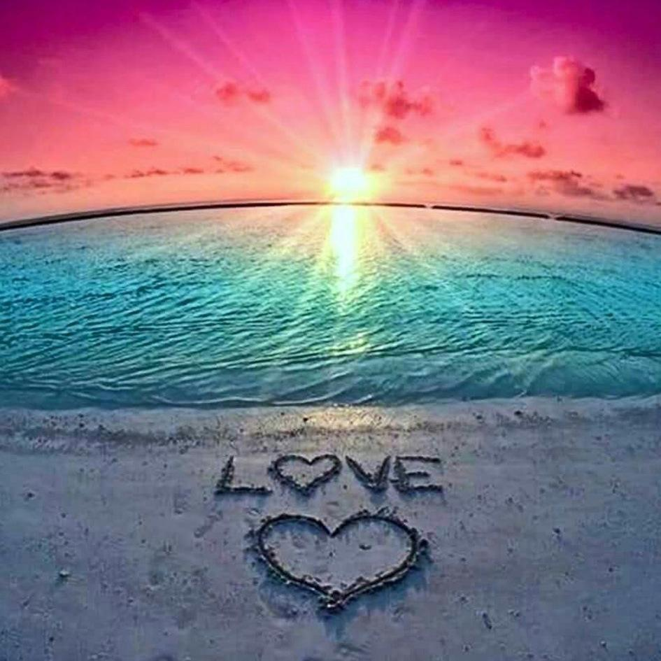 Compre Kit De Pintura De Diamantes De Sunset Love 5d Diy Para