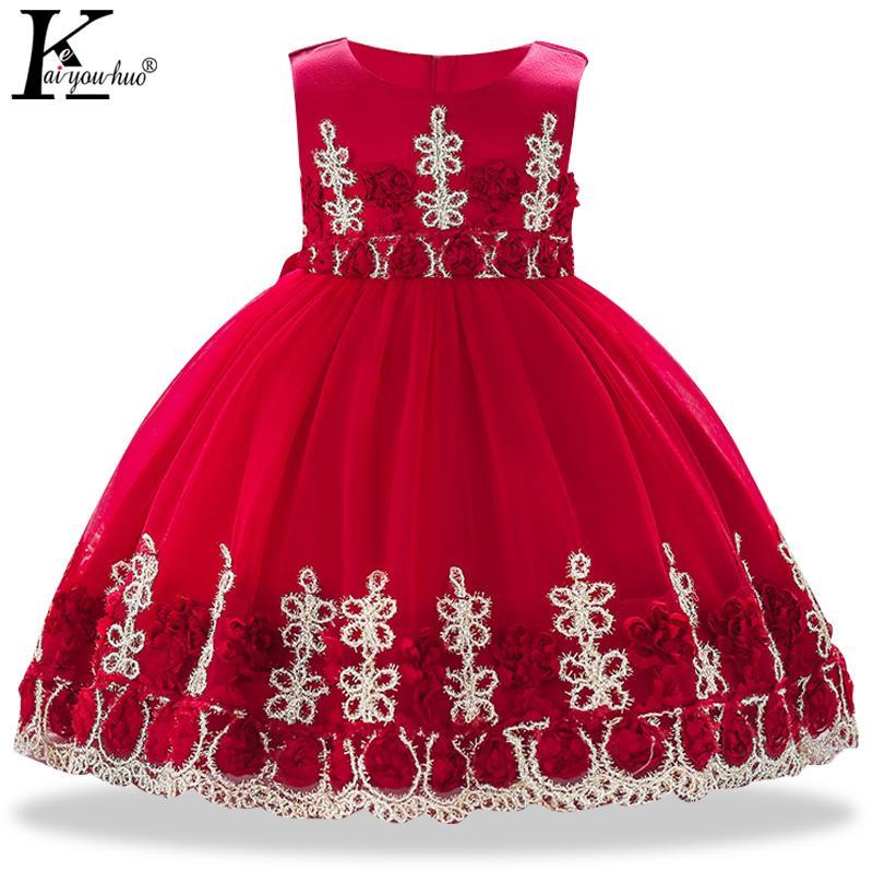 e1bbd74a926 Acheter Baby Girl Dress 2018 Première Anniversaire Fille Fête Princesse  Dress Pour Enfants Robes De Mariée Pour Bébé Vêtements De Noël Robes De   21.27 Du ...