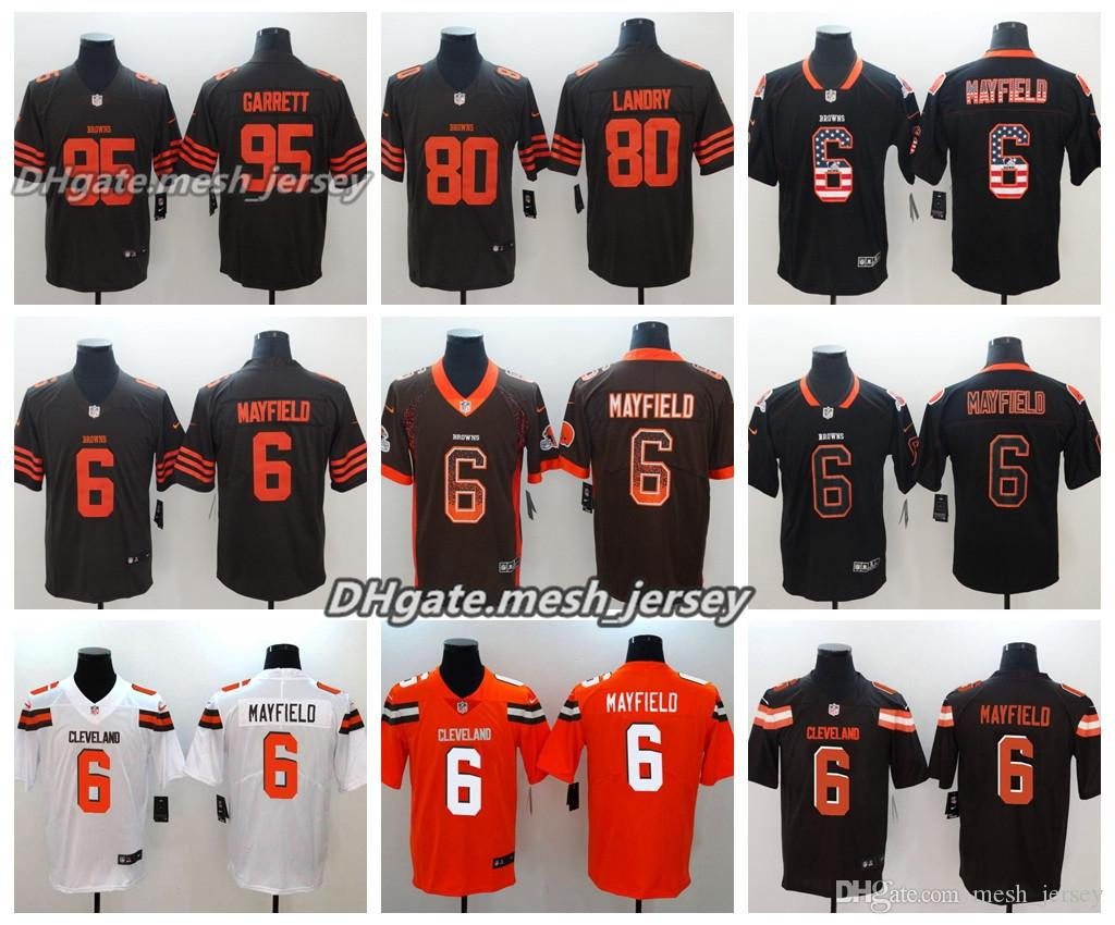 87e4803ee ... brian hoyer brown team color jersey b27c2 38912  coupon for 2018 men  cleveland jersey browns 80 jarvis landry 95 myles garrett 73 joe thomas