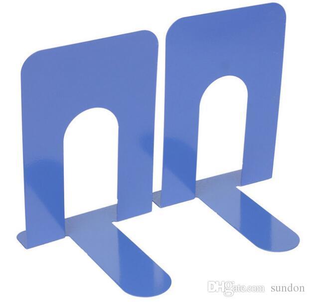 금속 철 책 끝 파란색 중공업 디자인 Bookends 홀더 사무실 노동자를위한 가을 책장에 재사용 할 수있는 저항