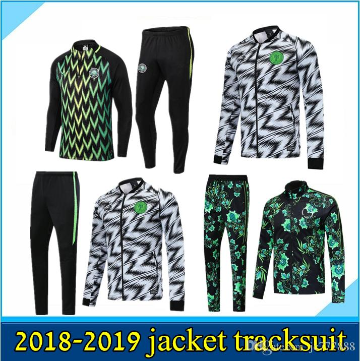 Cheap 2018 2019 SOCCER JERSEY World Cup Nigeria Training Suit 18 19 Nigeria  IWOBI Chandal FOOTBALL Long Sleeve Jacket Kits Tracksuit Sportswear a1e776890