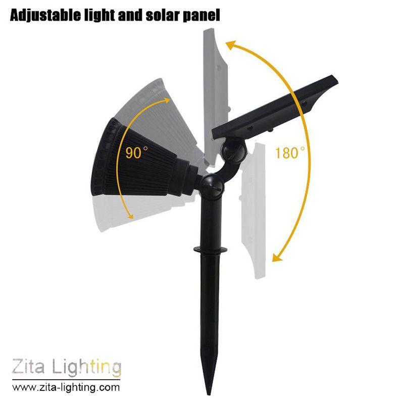 Zita iluminação solar led light ao ar livre led solar power spot rgb gramado jardim lâmpada paisagem holofotes paisagem super bright pathway lâmpada